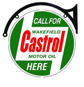 """Castrol Motor Oil 18"""" Hanger"""
