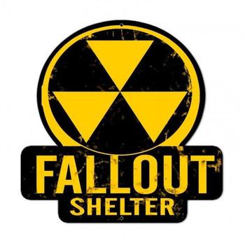 Fallout Shelter Plasma Cut Metal Sign
