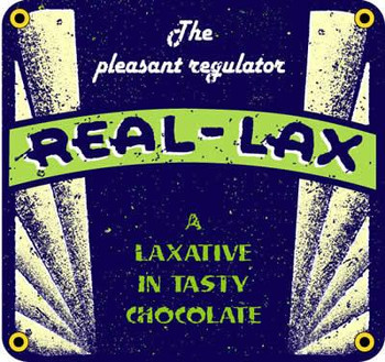 Real-Lax Porcelain Sign