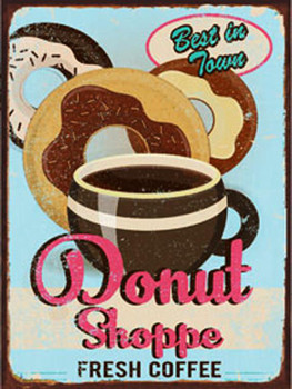 Donut Shoppe Metal Sign