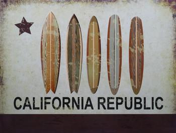 California Republic Surfboard Line Up Flag