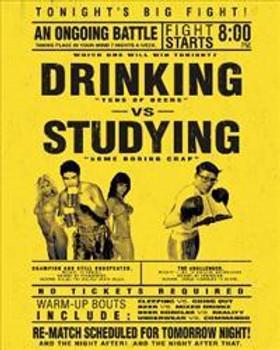 Drinking vs Studying