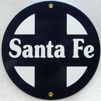 Santa Fe Railroad Porcelain Sign