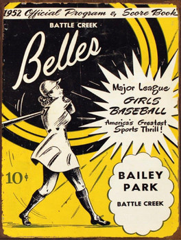 Belles Baseball 1952 Metal Sign
