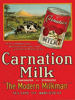 Carnation Milk Metal Sign