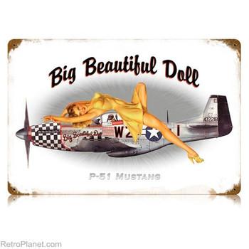 Big Beautiful Doll Pin-Up Metal Sign