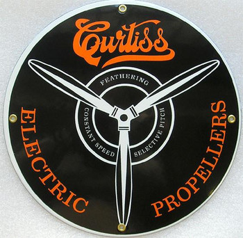 """Curtiss Electric Propellers Porcelain Sign 12"""""""