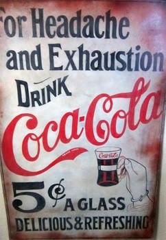 Coca-Cola Exhaustion (metal sign)