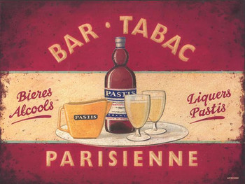 Bar Tabac Parisienne Metal Sign