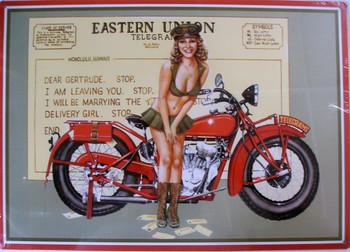 Eastern Union Telegram Pin-Up