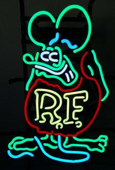Rat Fink Standing Neon