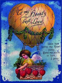 Hearts Best Love Metal Sign