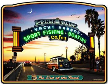 Santa Monica Pier Plasma  Metal Sign