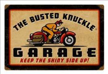 Busted Knuckle Rider Vintage Metal Sign