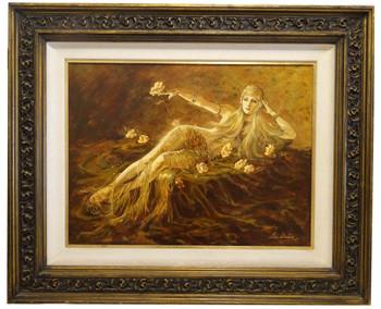 Beautiful Diva Original Oil Painting by Lee Dubin