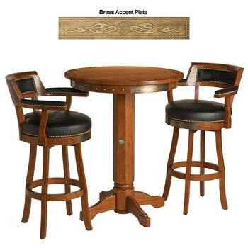 H-D® Bar & Shield Flames Pub Table & Backrest Stoo