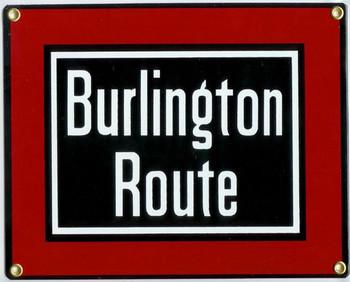 Burlington Route Porcelain Sign