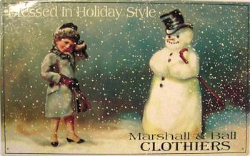 Marshall & Ball Clothers Metal Sign