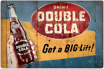 Double Cola Metal Sign