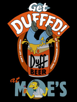 Get Duffed Simpsons metal sign