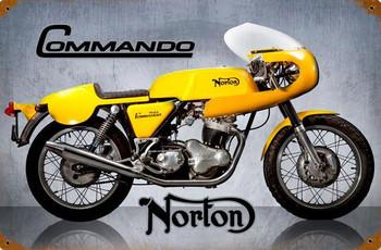 Commando Norton Motorcycle Metal Sign