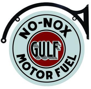 "Gulf No-Nox Motor Fuel 22"" Hanging"