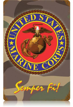 United States Marine Corps Semper Fi Metal Sign