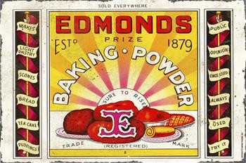 Edmonds Baking Powder Metal Sign