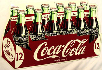 Coca-Cola Die Cut 12 Pack Sign (disc)