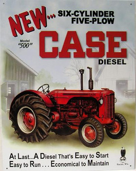 Case Diesel Model 500 (DISC) Metal Sign
