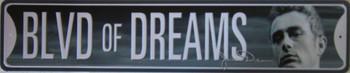 Blvd Of Dreams James Dean (Disc) Metal Sign