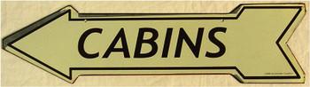 Cabins (arrow)
