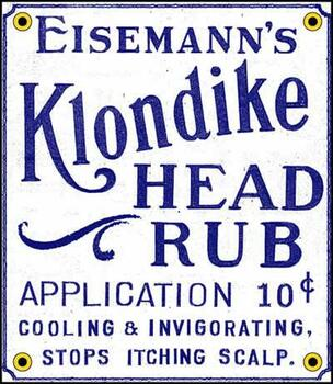 Klondike Head Rub Porcelain Sign