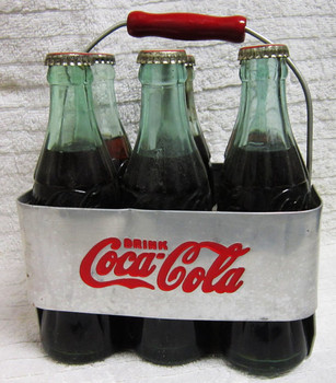 Aluminum Coca-Cola Six Pack Carrier Circa 1940