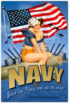 Navy Pinup (XLarge)