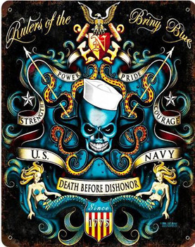 Death Before Dishonor Metal Sign