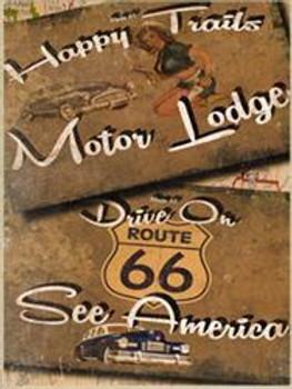 Motor Lodge Metal Sign