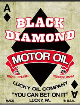 Black Diamond Motor Oil Metal Sign