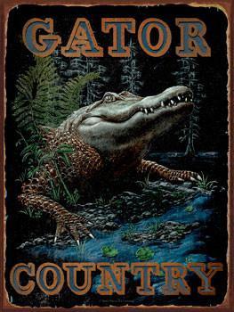 Gator Country Metal Sign