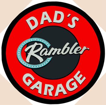 """Dad's Rambler Garage 14"""" Round"""