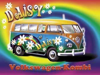 Daisy Volkswagen-Kombi Metal Sign