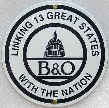 Baltimore & Ohio Railroad Porcelain Sign