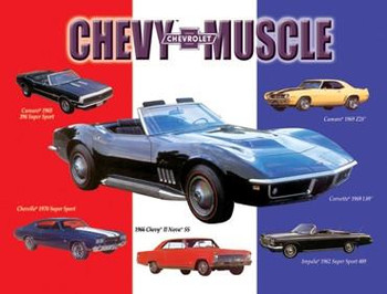 Chevy Muscle Metal Sign