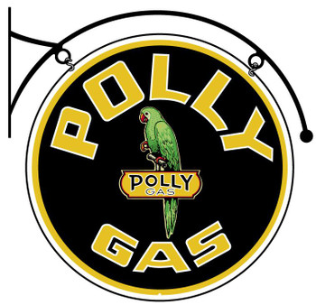 Polly Gas Double-Sided Hanging Sign