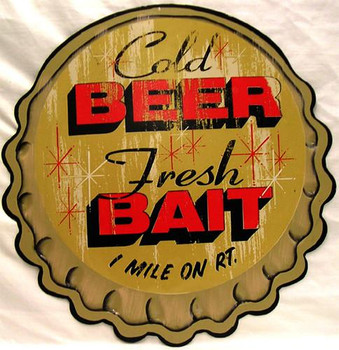 Cold Beer Fresh Bait 1 Mile on Rt.