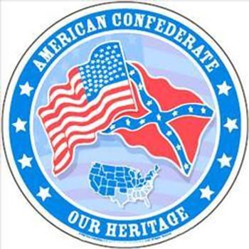 "American Confederate -12"" Round"