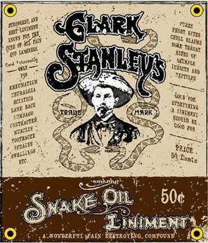 Clark Stanley's Snake Oil Porcelain Sign