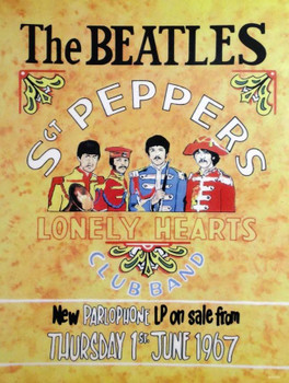 Beatles- Sgt. Pepper's Lonely Hearts Metal Sign