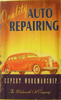 Auto Repairing Metal Sign