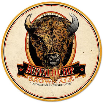 Buffalo Chip Brown Ale Metal Sign